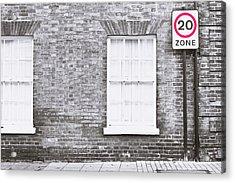 Speed Limit Acrylic Print by Tom Gowanlock