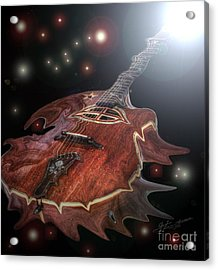 Speed Of Sound Digital Guitar Art By Steven Langston Acrylic Print by Steven Lebron Langston