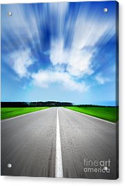Speed Sky Acrylic Print by Boon Mee