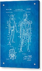 Speers G I Joe Action Man Patent Art 1966 Blueprint Acrylic Print by Ian Monk