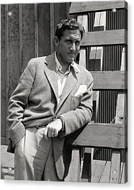 Spencer Tracy Wearing A Tweed Sports Jacket Acrylic Print