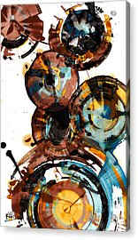 Acrylic Print featuring the painting Spherical Happiness Series - 993.042212 by Kris Haas