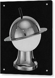 Spherical Lamp With Chromium Base Acrylic Print