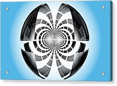 Acrylic Print featuring the digital art Spheroid by GJ Blackman