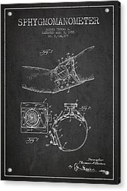 Sphygmomanometer Patent Drawing From 1955 - Dark Acrylic Print by Aged Pixel