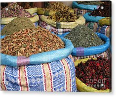 Spices At The Souk Acrylic Print by Sophie Vigneault
