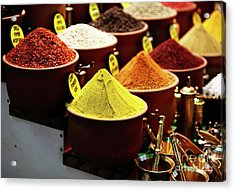Spices Acrylic Print by John Rizzuto