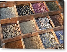 Spices Acrylic Print by Roberto Morgenthaler