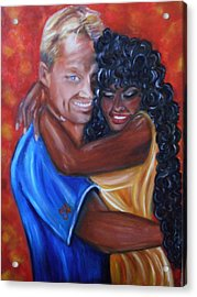 Spicy - Interracial Lovers Series Acrylic Print