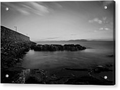 Spiddal Pier Acrylic Print by Peter Skelton