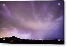 Spider Lightning Above Haystack Boulder Colorado Acrylic Print by James BO  Insogna