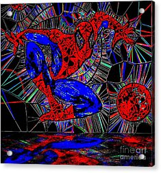 Spider-man Out Of The Web 2 Acrylic Print by Saundra Myles