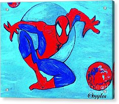 Spider-man  Acrylic Print by Saundra Myles
