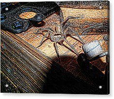Acrylic Print featuring the digital art Spider On The Move by Robert Rhoads