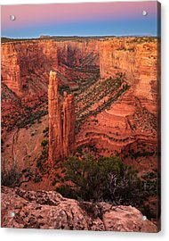 Spider Rock Sunset Acrylic Print by Alan Vance Ley