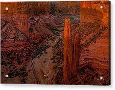Spider Rock Sunset Acrylic Print by Tim Bryan