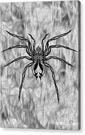 Spider Tatoo Acrylic Print by Gregory Dyer