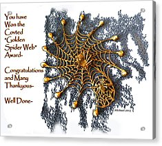 Spider Web Congratulation Thank You Well Done Acrylic Print