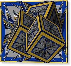 Spike Cubed 3d Acrylic Print by Brian Johnson