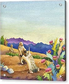 Spike Gets Stuck Acrylic Print by Anne Gifford