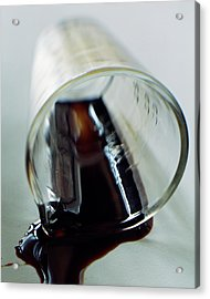 Spilled Balsamic Vinegar Acrylic Print by Romulo Yanes