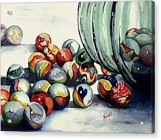 Spilled Marbles Acrylic Print by Sam Sidders