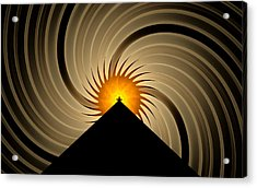 Acrylic Print featuring the digital art Spin Art by GJ Blackman