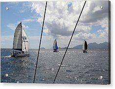 Spinnakers In The Seychelles Acrylic Print