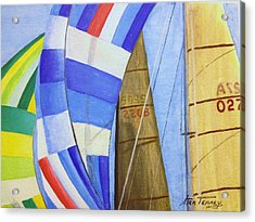Spinnakers Acrylic Print by Stan Tenney