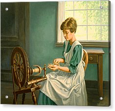 Spinning At The Homestead Acrylic Print