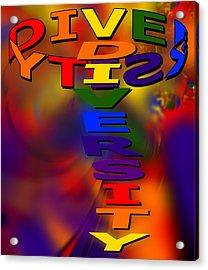 Spinning Diversity Acrylic Print by Pharris Art