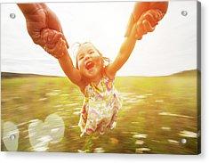 Spinning Girl Acrylic Print by Arand