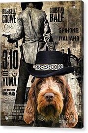 Spinone Italiano - Italian Spinone Art Canvas Print - 3 10 To Yuma Movie Poster Acrylic Print