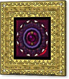 Spinwheels Five  Acrylic Print by Ann Stretton