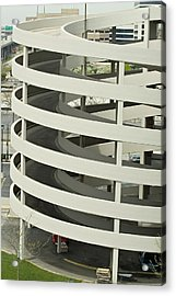 Spiral Car Parking Acrylic Print by Devinder Sangha