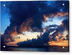 Spiral Clouds Acrylic Print by Aidan Moran