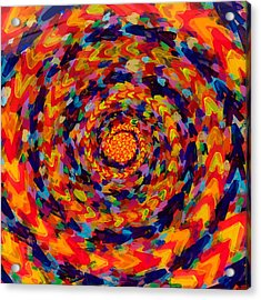 Spiral Color 14-49 Acrylic Print by Patrick OLeary