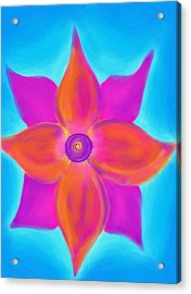 Spiral Flower Acrylic Print by Daina White