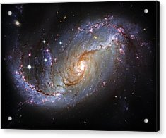 Spiral Galaxy Ngc 1672 Acrylic Print by Jennifer Rondinelli Reilly - Fine Art Photography
