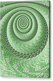 Spiral In Green Acrylic Print