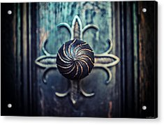 Acrylic Print featuring the photograph Spiral Knob by Ryan Wyckoff
