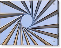 Spiral Metal Sculpture At Fermila Acrylic Print by Mark Williamson