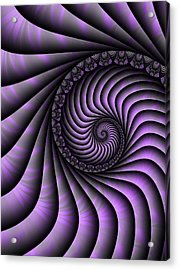 Spiral Purple And Grey Acrylic Print