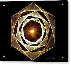 Spiral Scalar Acrylic Print by Jason Padgett