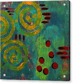 Spiral Series - Adamant Acrylic Print by Moon Stumpp