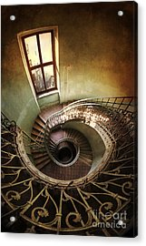Spiral Staircaise With A Window Acrylic Print