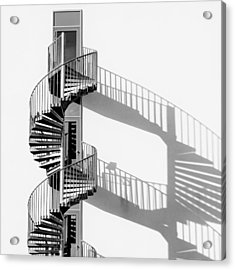 Spiral Staircase With Shadow Acrylic Print