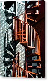 Spiral Stairs - Color Acrylic Print by Darryl Dalton