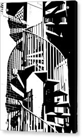Acrylic Print featuring the photograph Spiral Stairs by Darryl Dalton