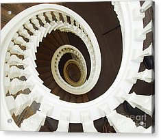 Spiral Stairs From Above Acrylic Print